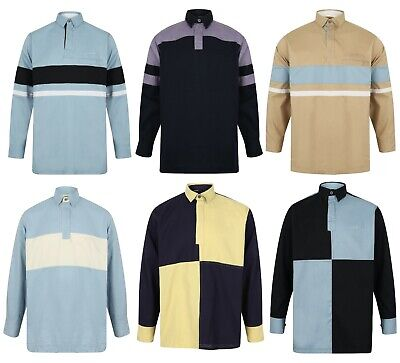 Mens Deck Sailing Shirt Drill Cotton Heavyweight Thick New Long Sleeve Rugby