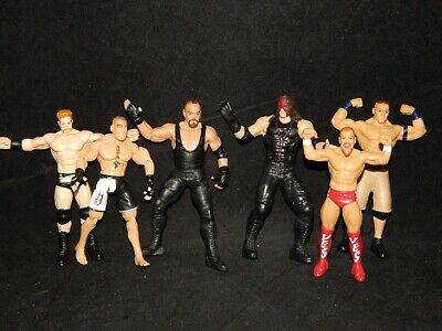 Ellsworth Eva Mattel WWE Elite Wrestling Figure Lot: Rock BAF Daniel Bryan