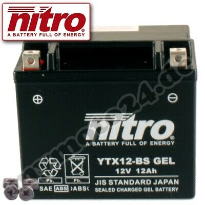 Batterie Gilera Nexus 125 ZAPM35500 Bj. 2009 Nitro YTX12-BS GEL