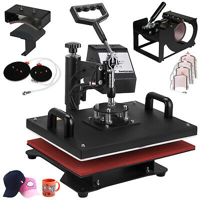 "9 in 1 Heat Press Machine T-Shirt 12""x15"" Combo Transfer Sublimation Swing away"