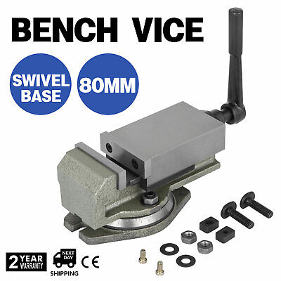 3'' 80mm Precise Bench Base Clamp Swiveling Vice Milling Machine Milling 360 ℃