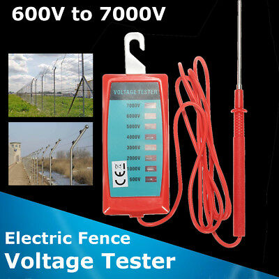 Electric Fence Voltage Tester Energiser Farm Garden Solar Fence Fault