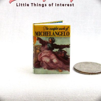 THE COMPLETE WORKS OF MICHELANGELO Miniature Book Dollhouse 1:12 Scale Book