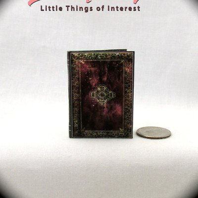 BOOK OF INCANTATIONS 1:6 Scale Spell Book Illustrated Readable Miniature Book