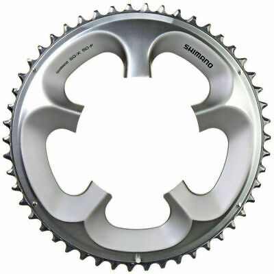 Shimano Ultegra FC-6750 2x10 Double 34T Chainring 110mm BCD Silver