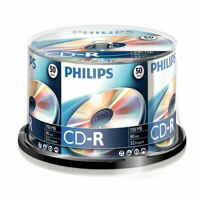 50 x Philips CD-R Blank Recordable Discs 80 Mins 700MB 52x Speed - Spindle Pack