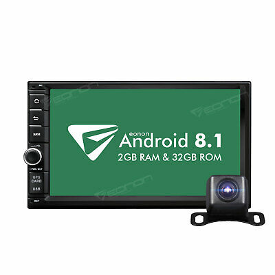 """ISO 7"""" Android 8.1 Double 2DIN Car Stereo Radio GPS Navigation Bluetooth +Camera"""