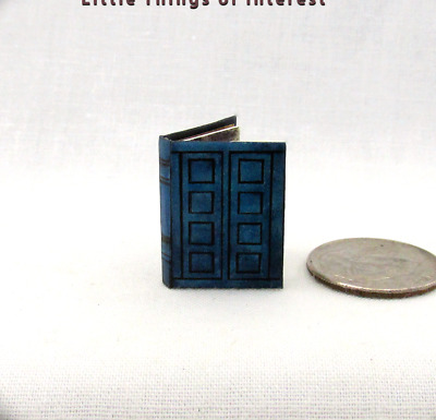 TARDIS JOURNAL RIVERSONG'S Dollhouse Miniature Illustrated 1:12 Scale Book Who