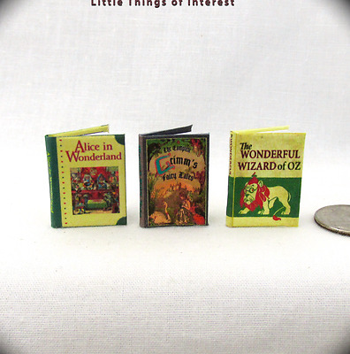 BEST LOVED CLASSIC FAIRY TALES Set (3) Miniature Books Dollhouse1:12 Scale Books