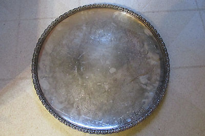 """Vintage Wilcox Large Silver Plate Serving Tray 18"""" Wakefield #7067"""