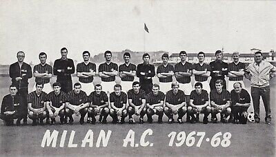 Calcio/Football Foto/Cartolina sq. MILAN 1967-'68 con RIVERA originale
