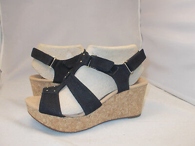 578bd4d8f1b Clarks Annadel Orchid Wedge Sandals Women s Us Size 9.5 M Cushioned