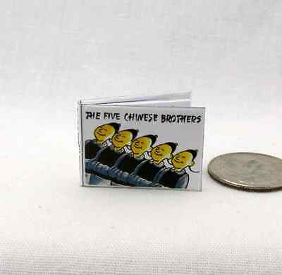 THE FIVE (5) CHINESE BROTHERS Illustrated Miniature Dollhouse Book 1:12 Scale