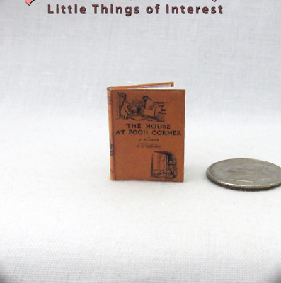 THE HOUSE AT POOH CORNER Miniature Book Dollhouse 1:12 Scale Illustrated Book