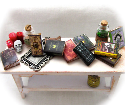 9 HOGWARTS TEXTBOOKS Dollhouse Miniature 1:12 Scale Prop Books Potter Magic