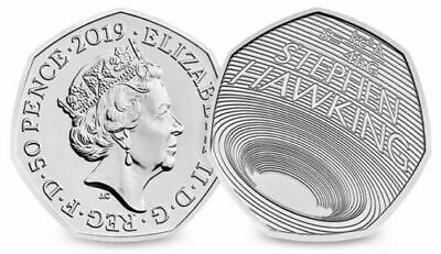 2 x STEPHEN HAWKING  2019 50p Pence Coin BUNC PRE ORDER FREE POSTAGE