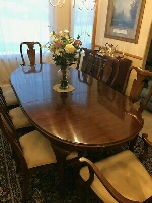 Drexel Vintage Cherry Dining Room Set 11 Pieces