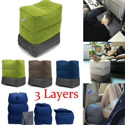 Inflatable Travel Pillow Footrest Leg Foot Rest Portable Cushion Pad Kids Bed !