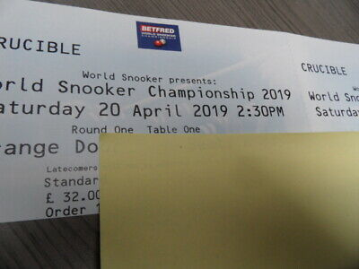 Crucible 2019 tickets World Snooker Championship 2019