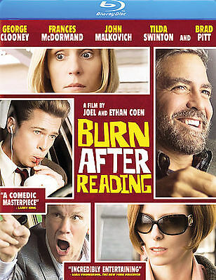 Burn After Reading (Blu-ray Disc) NEW SEALED