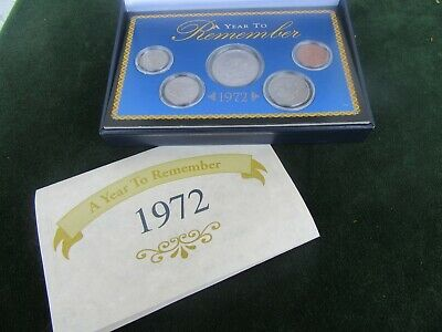 """Vintage American Historic Society 1972 Coin Set """"a Year To Remember"""""""