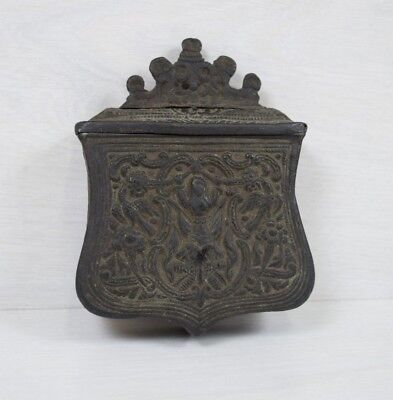 Antique Brass Ottoman Empire Palaska Gun Powder Cartridge Box Military Container