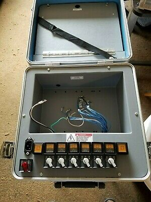 allen bradley 1747-demo-3 case with switches, lights, and wiring diagram