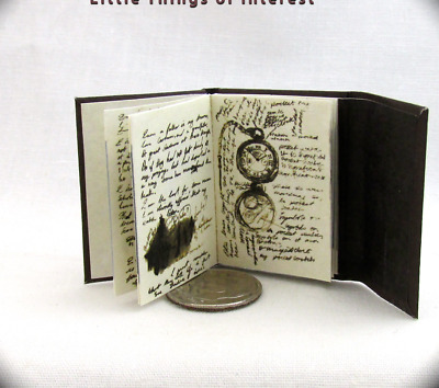 JOURNAL Of IMPOSSIBLE THINGS Miniature Book Readable Illustrated Book 1:6 Scale