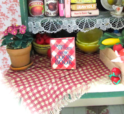 BETTER HOMES & GARDEN COOKBOOK Miniature Dollhouse Book 1:12 Scale Illustrated