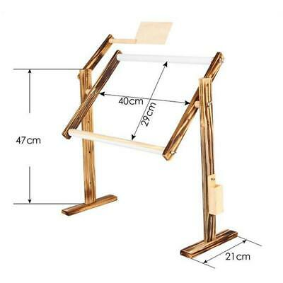 Solid Wood Cross Stitch Rack Adjustable Stand Desktop Embroidery Frame Y