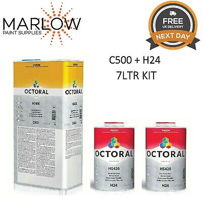 Octoral C500 Hs420 Supurb Clearcoat Lacquer Kit With H24 Fast Hardener 7Ltr
