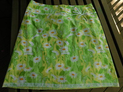LILLY PULITZER yellow green orange white DAISIES FLOWERS butterflies SKIRT low