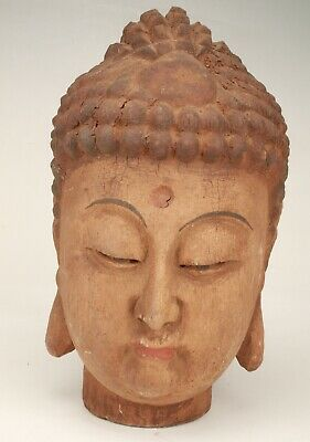Chinese Wood Hand Carving Buddha Statue Gift Collection Decoration