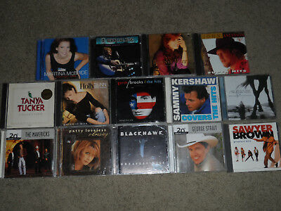Country Greatest Hits 14 CD Lot - Holly Dunn Garth Brooks John Anderson LOT85
