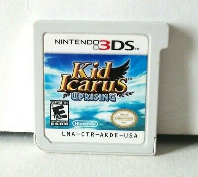 Kid Icarus: Uprising (Nintendo 3DS) Game & Case Pit Decent Shape No Stand 2012