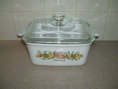 Corning Ware Spice Of Life P-4-B Rectangle Casserole with P-4-C Lid  1.5L  EUC