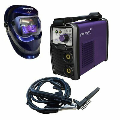 Parweld Compact & Powerful Arc Stick Welder Inverter Plus Auto Darkening Helmet