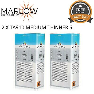 2 X Octoral Ta910 Medium Uni Thinner 2K Basecoat 5L   -  Free Next Day Delivery