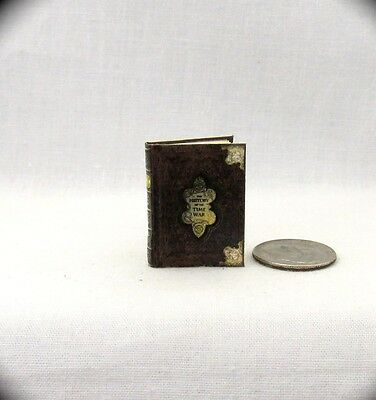 HISTORY OF THE TIME WAR Miniature Book Dollhouse 1:12 Illustrated Book Dr. Who
