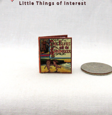 THE ELVES AND THE SHOEMAKER Miniature Book Dollhouse 1:12 Scale Readable Book