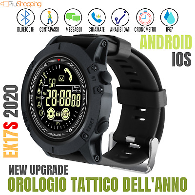 Orologio Smartwatch Sportivo Militare Android Ios Bluetooth Impermeabile Ip67