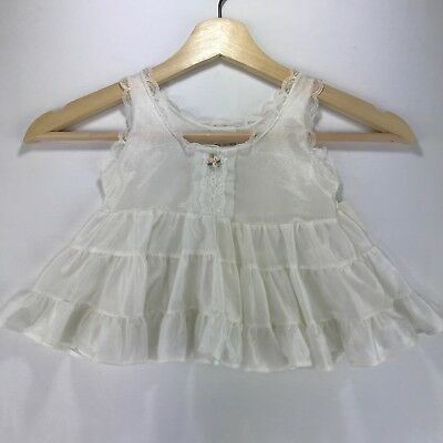 Her Majesty Vintage Toddler Girls Size T1 Under Slip Circle Skirt White  Lace
