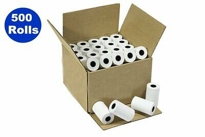 """500 Rolls 2-1/4"""" x 50' Thermal Credit Card Paper for Ingenico, Verifone, Nurit"""