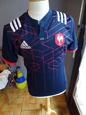 Ancien Maillot Adidas Rugby France T.m Tournoi 6 Nations