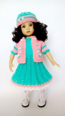 "Handmade Outfit For Dolls Dianna Effner Little Darling 13 "", Knitted Clothes"