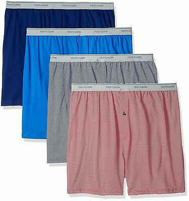 Fruit of the Loom Men's Assorted Dual Defense Tech Knit Boxer 4 Pack 2XL