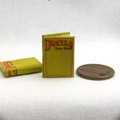 DRACULA by Bram Stoker, Miniature Book Dollhouse 1:12 Scale Readable Illustrated