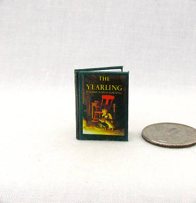 THE YEARLING Miniature Book Dollhouse 1:12 Scale Illustrated Readable Book