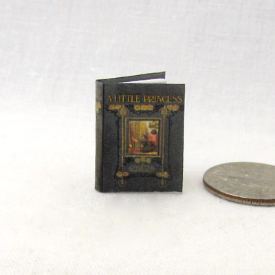 A LITTLE PRINCESS Miniature Book Dollhouse Illustrated Readable 1:12 Scale Book