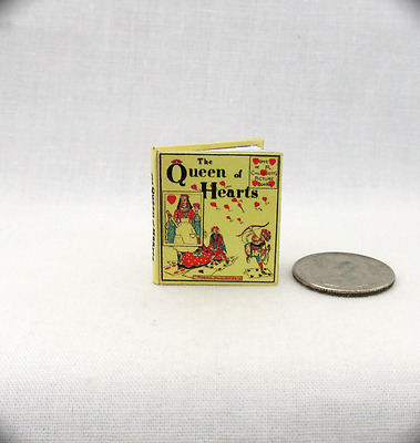 THE QUEEN OF HEARTS Dollhouse Miniature Book 1:12 Scale Illustrated Readable